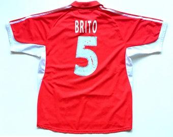 Cesar Brito Sport Lisboa Benfica Vintage Adidas Portugal Soccer Jersey, 1990's official