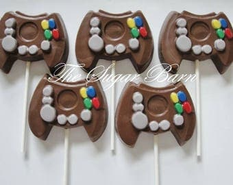 VIDEO GAME Controller CHOCOLATE Lollipops*8 Count*Birthday Favor*Video Game Party*Chocolate Gift*Gamer Gift*Video Game Birthday Party