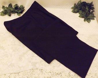 70's Black Hart Schaffner Marx Single Pleat Mens Pants Size 34