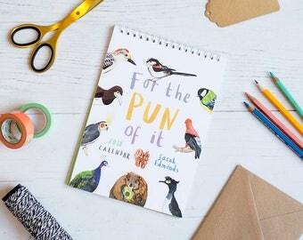2018 Calendar - For The Pun Of It - Fun illustrated calendar - A5