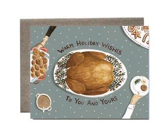 Turkey Christmas Card