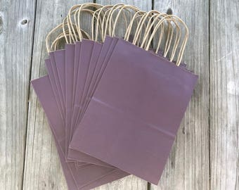 100 Pack Eggplant Gift Bags/Wedding Welcome Bags/Dark Purple Gift Bags/Hotel Welcome Gift Bags