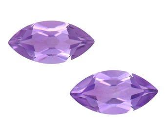 Pink Amethyst Marquise Cut Set of 2 Loose Gemstones 1A Quality 8x4mm TGW 0.80 cts.