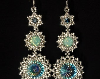 BEADING WORKSHOP - Falling Stars Earrings Workshop - Beading Class - One-To-One Beading Tuition - Jewellery Making Workshop - Learn To Bead