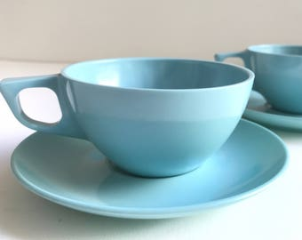 Stetson Cup and Saucer - Set of 2