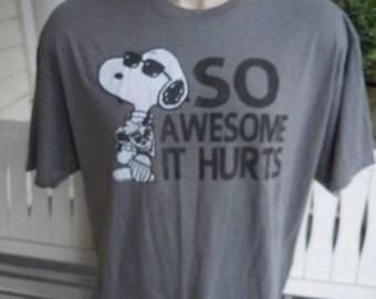 Size XXL (54) ** Snoopy Shirt (Single Sided)