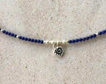 Blue Lapis Lazuli Anklet