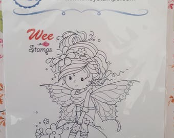 Iris mounted rubber stamp