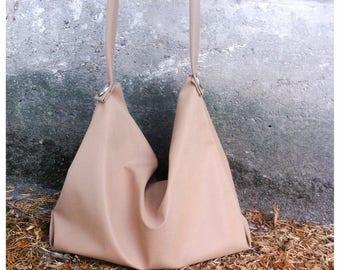 On SALE Faux soft leather  HOBO  bag / hobo bag/  faux soft leather hobo bag
