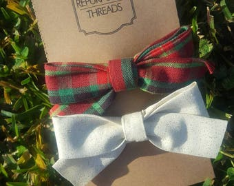 Large fabric bows, 2 ct - Merry and Noelle