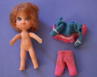 Vintage Liddle Kiddles Freezy Sliddle Doll, VGC