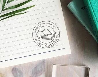 Circle Please Return To Stamp | Custom Teacher Stamp - Book Stamp - Library Stamp