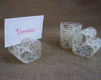 Lace Wedding Place Card Holders, Wedding Table Decor, Wedding Number Holders, Place Card Holder, Set of 120