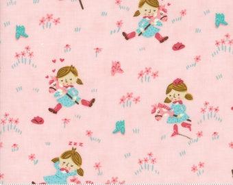 Cowgirl Fabric by the Yard, Howdy Fabric, Stacy Iest Hsu, Moda Fabrics, Children's Fabric, Western Fabric, Pink Cowgirl Fabric, 20551 18