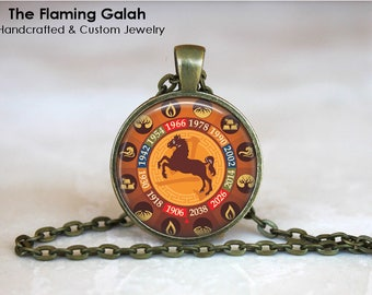 YEAR OF HORSE Pendant • Chinese Zodiac • Horse Zodiac • Chinese New Year • Horse Astrology • Gift Under 20 • Made in Australia (P1374)