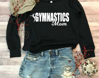 Gymnastics Mom Wideneck Fleece