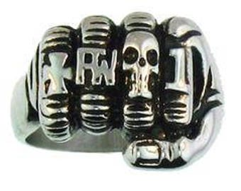 Fist With Biker Rings