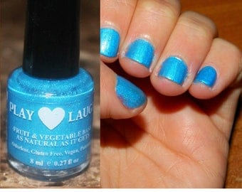 Spectacular Metallic Teal Blue. Peel off polish made with fruits&vegies,gluten free,quick dry, vegan,5-free,safe for dogs.Sale Price!