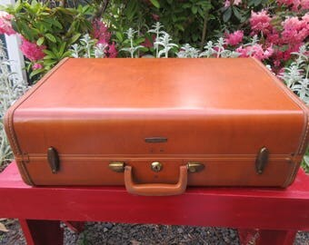 "Vintage Brown Samsonite Shwayder Bros. 21"" Suitcase Luggage"