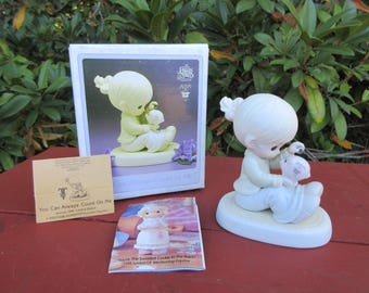 """Vintage Precious Moments Easter Seals Figurine """"You Can Always Count On Me"""" 1995 in Box #526827"""