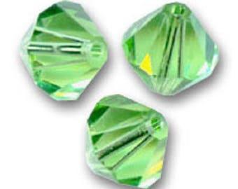 1 lot 50 Swarovski 3mm peridot Swarovski Crystal bicone beads