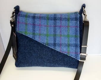 Harris Tweed Bag / Blue / Shoulder Bag / Handmade