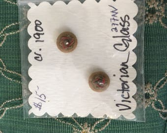 Antique Victorian Glass buttons 2