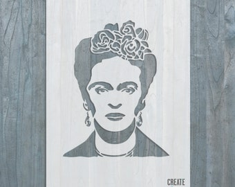 Frida Kahlo STENCIL Mexican artist Template Home Wall Art Famous People