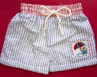 SALE!!  Beach smock Swim Suit, Smocked Bathing Suit, summer, cute, little boys, babies