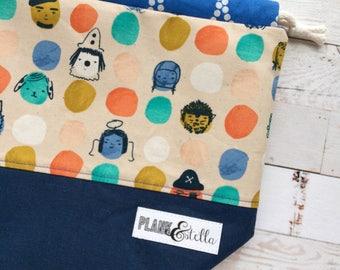 trick or treat | drawstring project bag | single sack