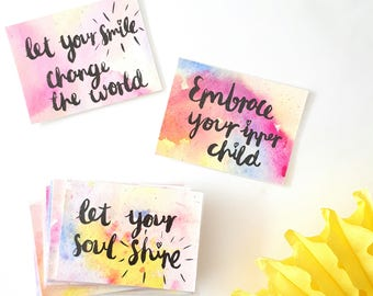 Inspirational quote cards - Daily affirmation cards - Positive thinking quotes - Encouraging quote cards - Inspirational gift for friend