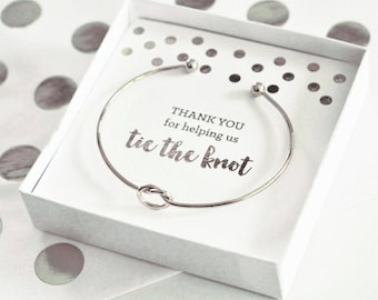 Tie the Knot Bracelet, (Silver or Gold Plated)