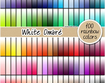 SALE 100 ombre rainbow digital paper rainbow solid digital paper scrapbooking kit pattern printable 12x12 pastel ombre neutral bright light