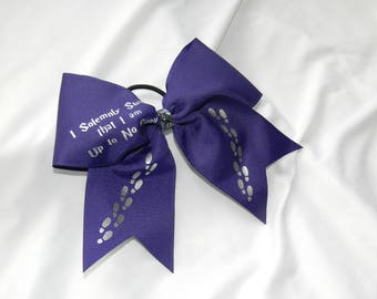 I Solemnly Swear I Am Up To No Good Harry Potter Inspired Cheer Bow Hair Bow