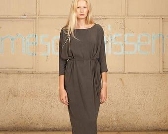 Gray Long Dress,Gray Maxi Dress, GrayWinter Dress,Gray Oversize Dress, Bohemian Clothing