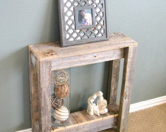 SALE Natural Unfinished Farmhouse End Table