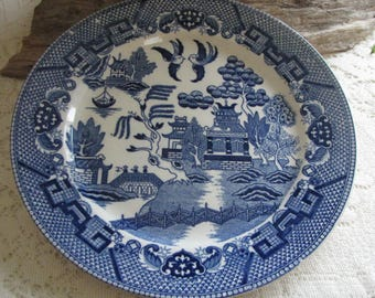 Japan Blue Willow Ware Plate Antique Decorative Plates Chinoiserie