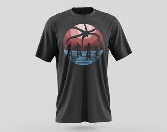 Stranger Things T-Shirt Design from the Stranger Things Universe with Mike, Dustin, Lucas, Will, Eleven, and Max in this Sci-fi Masterpiece.