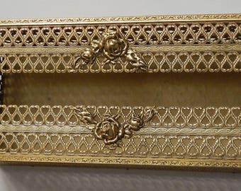 Beautiful Vintage Gold Tissue Box!