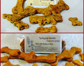Gourmet dog treats -1 lb. lucky dog biscuits