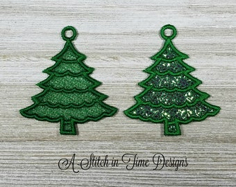 FSL Christmas Tree Charms - Machine Embroidery Design - Instant Download