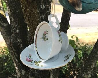 Upcycled Tea Cup Bird Feeder