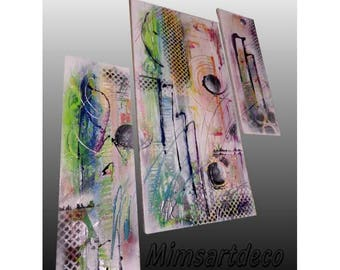 Multicolored abstract oil painting
