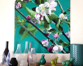 "Poster fleurs de pommier"" photo florale, grand format"