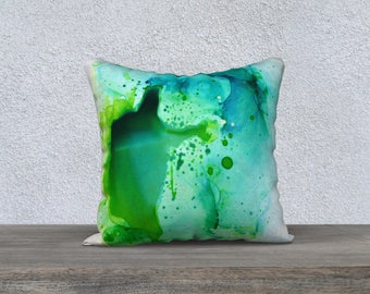 "18 x 18"" Pillow case - Aventurine"
