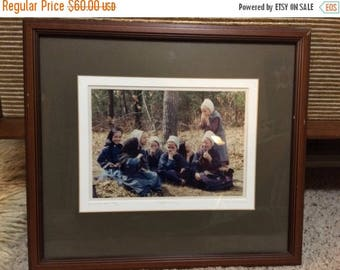 ON SALE Bill Coleman photography 'Little Women' Amish #225 framed