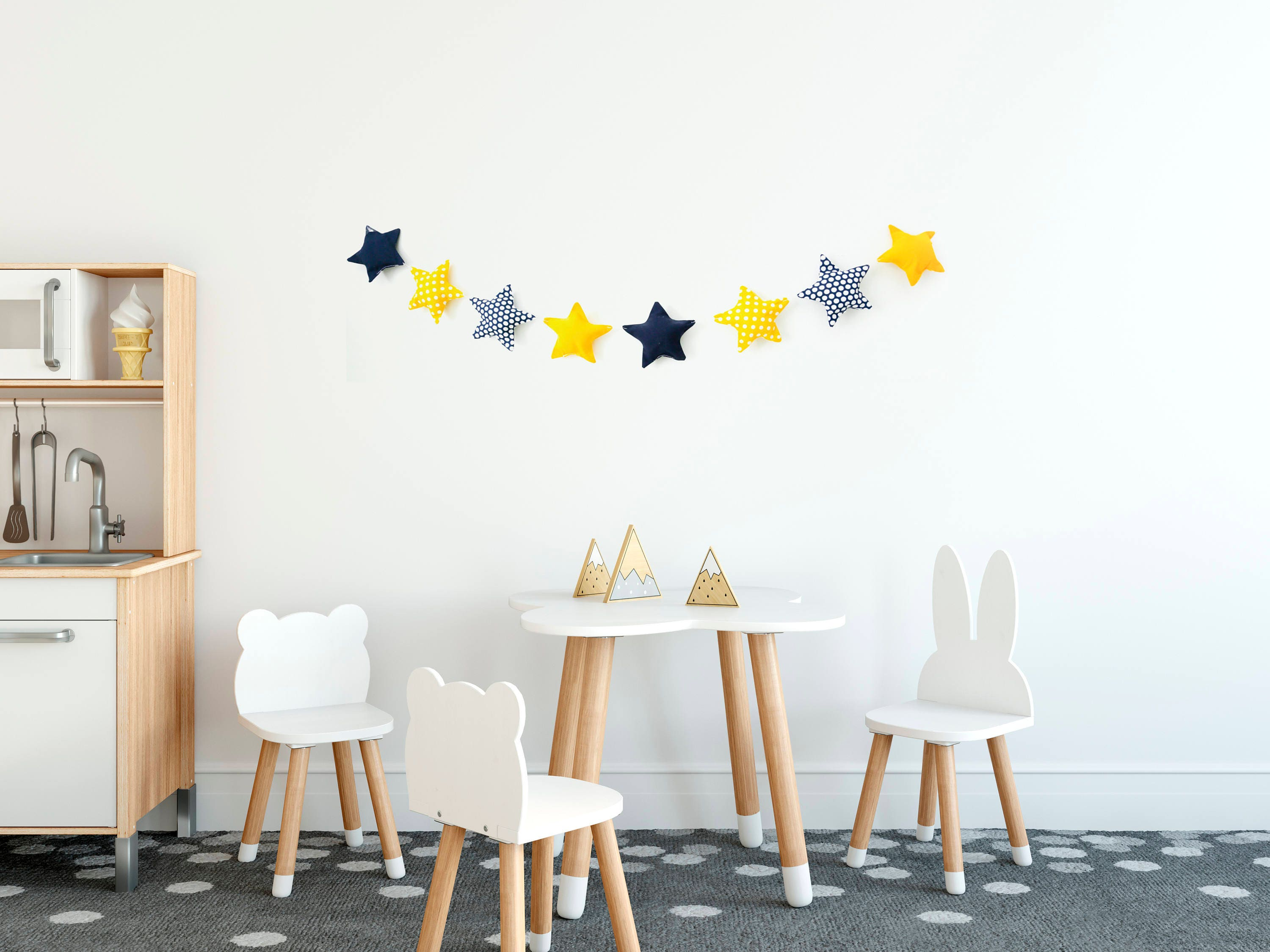 is wall inspiration decor kitchen star sign of wood happiness homemade rustic