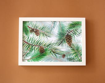 Pine tree / Forest print for nursery / Baby room decor / Kids room wall art