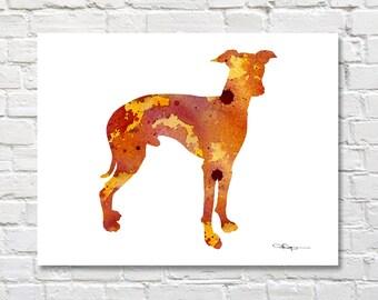 Italian Greyhound Art Print - Abstract Watercolor Painting - Wall Decor