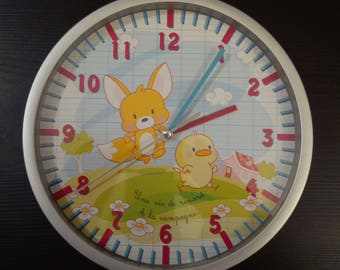Educational clock a Fox in the country life